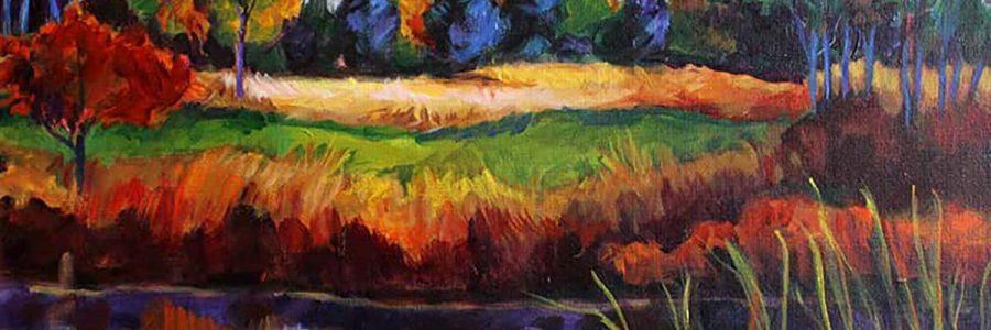 banner Ave Madiol Veneklasen Landscapes Reflection 20×16 Plein Air Acrylic